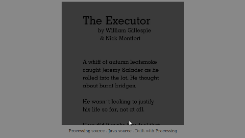 Beginning of The Executor