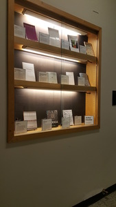 Author Function book displays and gallery walls