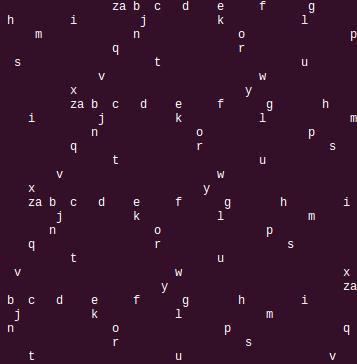 Alphabet in 25