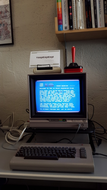 A C64 Running the 10 PRINT Disk