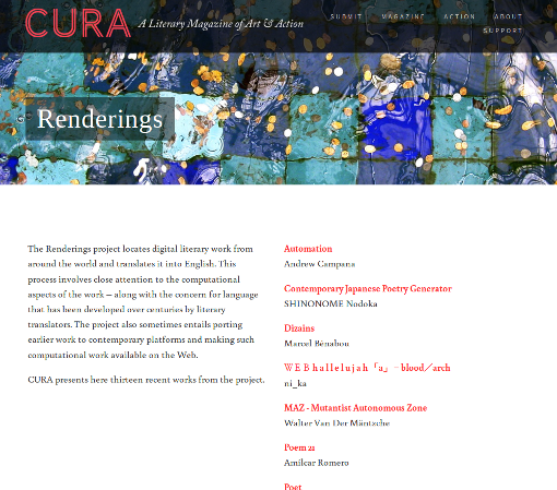 Cura: The Renderings project, phase 1