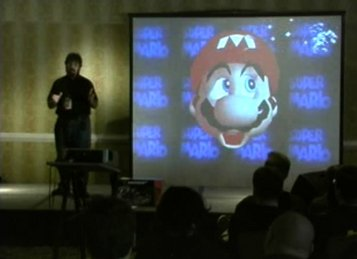 Jason Scott speaks about Super Mario 64 and the N64 at Notacon.