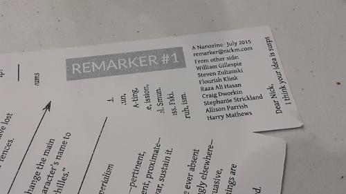 Remarker #1