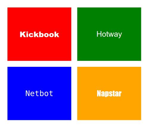Upstart, a company name generator